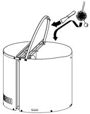Skorstensfejeren har adgang til skorstenen gennem Draftbooster